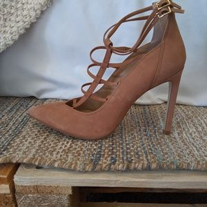 Steve Madden Nude Cage Pumps